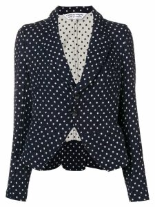 Comme Des Garçons Pre-Owned polka dot print blazer - Black