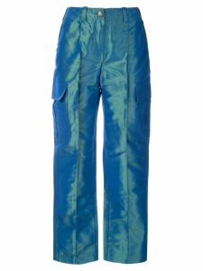Chanel Pre-Owned straight-leg pants - Blue