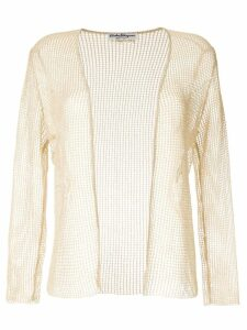 Salvatore Ferragamo Pre-Owned knitted mesh jacket - GOLD