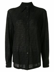 Fendi Pre-Owned logo print shirt - Black