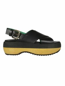 Marni Criss-cross Flatform Sandals