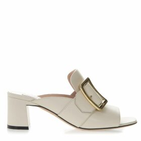 Bally Janaya Bone Color Leather Sandals