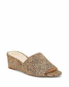 Vince Camuto Women's Stephana Wedge-Heel Slide Sandals