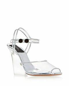 Marc Jacobs Women's Transparent High-Heel Wedge Sandals