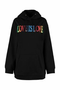 Alberta Ferretti Love Is Love Cotton Hoodie