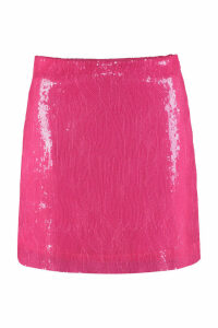 Alberta Ferretti Sequins Mini Skirt