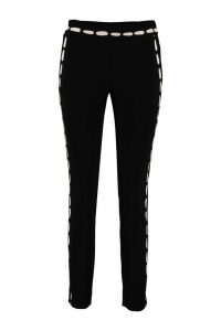 Moschino Printed Slim-fit Trousers