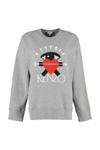 Kenzo Cotton Sweatshirt With eye Love Embroidery