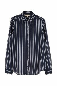 Michael Kors Striped Crêpe Shirt