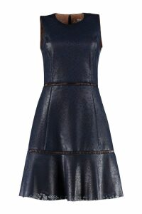 Michael Kors Perforated Faux Leather Dress