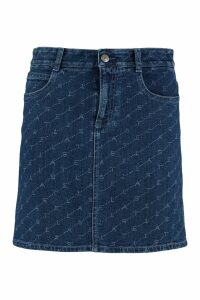 Stella McCartney Printed Denim Mini Skirt