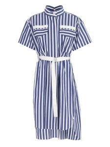 Sacai Striped Belted Shirt Dress