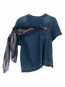 Sacai Denim Bandanna T-shirt