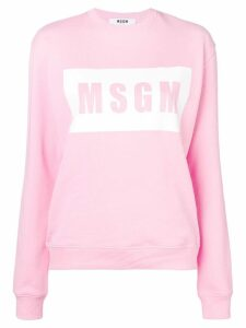 MSGM Logo Box Sweatshirt