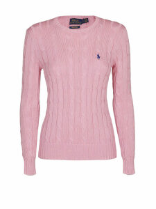Polo Ralph Lauren Pink Twist Knit Cotton Sweater