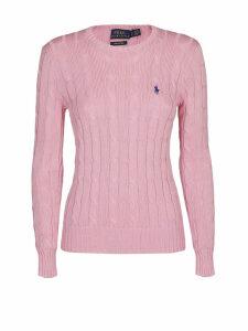 Polo Ralph Lauren Pink Twist Knit Cotton Sweater