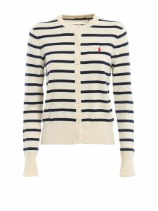 Polo Ralph Lauren Cotton Blend Striped Cardigan