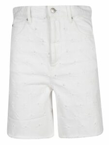 Isabel Marant Liny Distressed Denim Shorts
