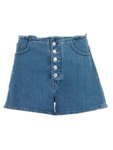 7 For All Mankind Frayed Waist Denim Shorts