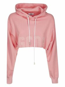 GCDS Cropped Hooded Sweatshirt