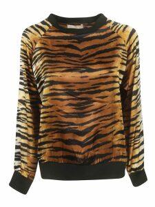 Alexandre Vauthier Tiger Print Sweatshirt