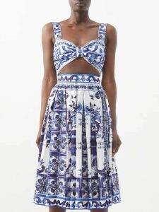 Cult Gaia - Madeline Striped Tie-front Cropped Shirt - Womens - Beige Stripe