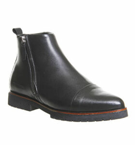 Ten Points Amanda Side Zip Boot BLACK LEATHER