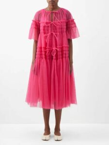 Wales Bonner - Crochet Striped Technical Track Pants - Womens - Black