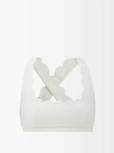 Roksanda - Aylena Pleated Taffeta Maxi Skirt - Womens - White Multi