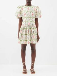 Gucci - Cotton Blend Bouclé Tweed Mini Skirt - Womens - Black Gold