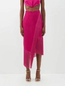 Chloé - Pleated-hem Plissé Mini Skirt - Womens - Beige