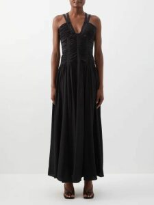 Burberry - Monogram Print Silk Georgette Blouse - Womens - Beige Multi
