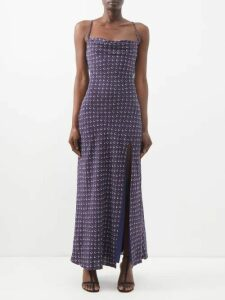 Nili Lotan - Aspen Fine-knit Linen Tank Top - Womens - Brown