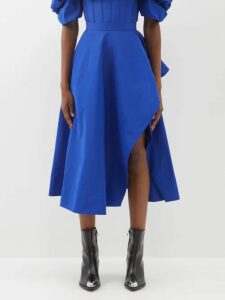 Burberry - Panelled Silk-faille Blouse - Womens - Beige Gold