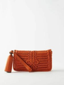Barrie - Bobble And Lace-stitched Cashmere Cardigan - Womens - Navy
