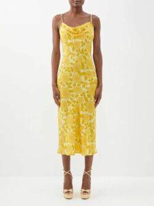 Gucci - Stirrup Print Pussybow Silk Shirt - Womens - Red Print