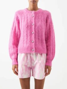 Prada - Polka-dot Silk-chiffon Blouse - Womens - Black Multi