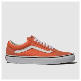 Vans Orange Old Skool Suede Trainers