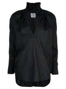A Shirt Thing ruffle neck shirt - Black