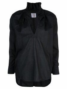 A Shirt Thing ruffle neck shirt - Black
