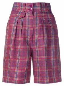 Etro plaid high-waisted shorts - Pink