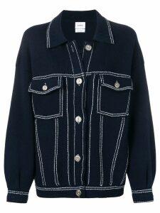 Barrie stitch-detail denim jacket - Blue