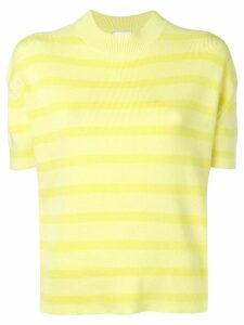 Barrie striped short-sleeve sweater - Yellow