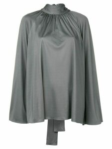The Row Merrian high-neck blouse - Grey