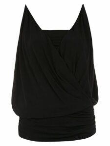 Tufi Duek wrap style blouse - Black