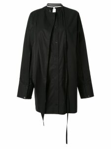 Boyarovskaya oversized button down shirt - Black