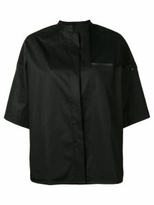 Yves Salomon cuffed sleeves shirt - Black