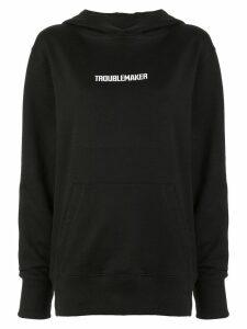 Boyarovskaya slogan hoodie - Black