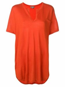 N.Peal Superfine Kaftan Tunic - Orange