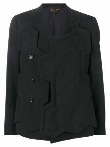 Comme Des Garçons single-breasted geometric jacket - Black